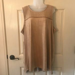 Maurice's 3X Faux Suede Blouse